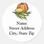 Thanksgiving Pumpkin Round Sticker