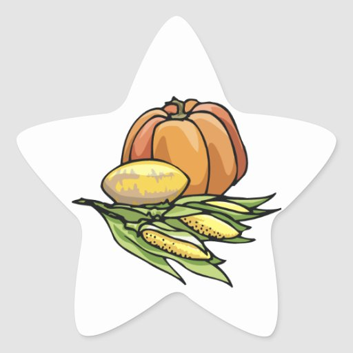 Thanksgiving Pumpkin Stickers
