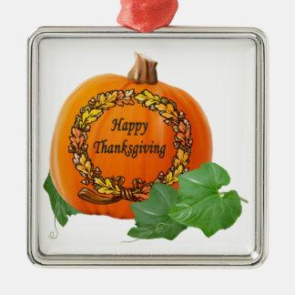 Thanksgiving Pumpkin Vintage Autumn Acorn Wreath Ornament