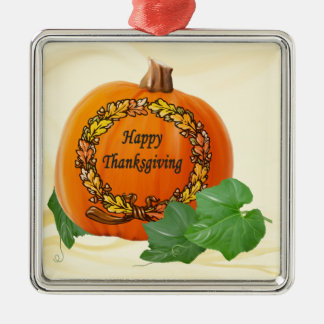 Thanksgiving Pumpkin Vintage Autumn Acorn Wreath Christmas Ornaments