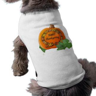Thanksgiving Pumpkin Vintage Autumn Acorn Wreath Pet Shirt