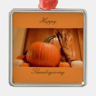 Thanksgiving Pumpkins Christmas Ornament