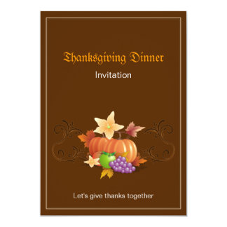 Thanksgiving Pumpkins Fruits Leaves Classic Card