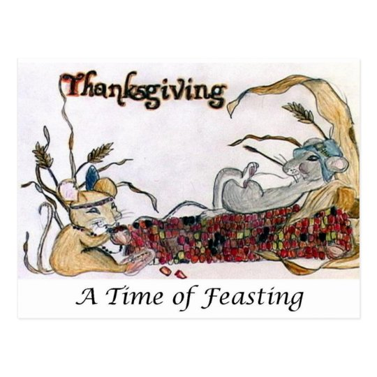 Thanksgiving Rat Feast Postcard