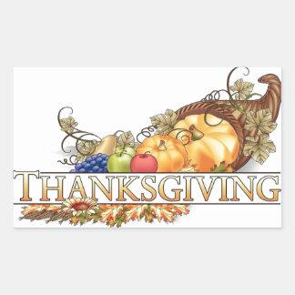 Thanksgiving Rectangular Sticker