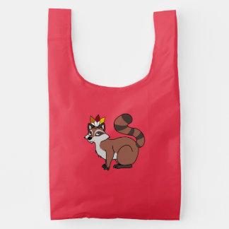 Thanksgiving Red Raccoon with Indian Headdress Baggu Reusable Bag