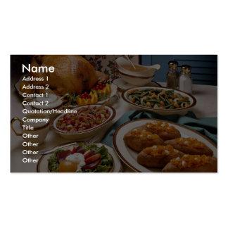 Thanksgiving roast turkey dinner business card template