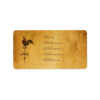 Thanksgiving Rooster Address Label