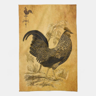 Thanksgiving Rooster Tea Towel