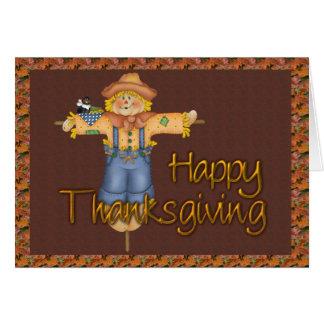 Thanksgiving Scarecrow Card