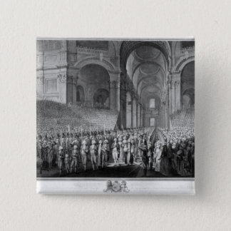 Thanksgiving service in St.Paul's Cathedral 15 Cm Square Badge