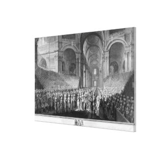 Thanksgiving service in St.Paul's Cathedral Canvas Print