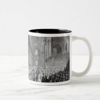 Thanksgiving service in St.Paul's Cathedral Two-Tone Coffee Mug