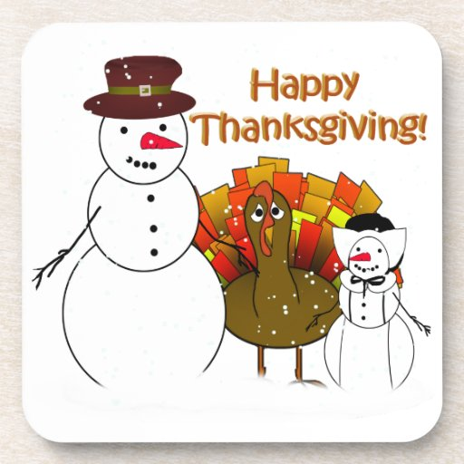 Thanksgiving Snowmen Coaster