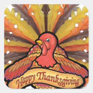 Thanksgiving Square Sticker