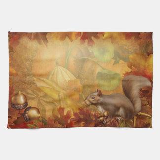 Thanksgiving Squirrel Kitchen Towel