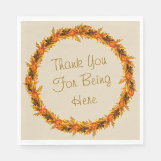 """Thanksgiving Thank You For Being Here Napkins 6.5"""" Paper Serviettes"""