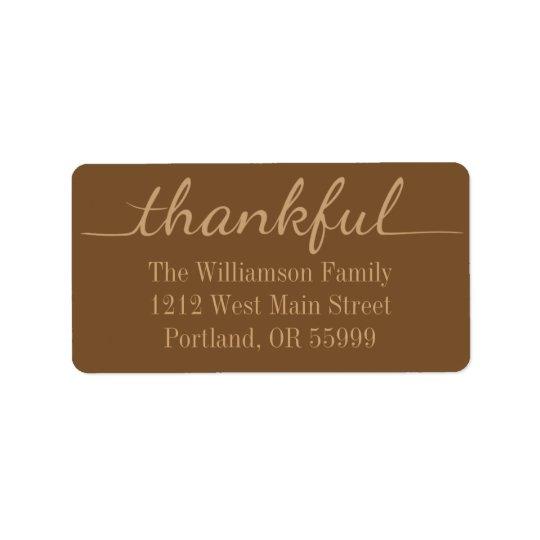 Thanksgiving Thankful custom address labels