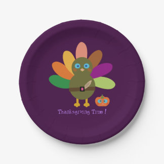 Thanksgiving Time! 7 Inch Paper Plate