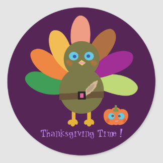 Thanksgiving Time! Classic Round Sticker