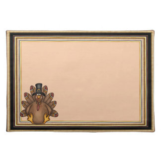 Thanksgiving Tom Turkey Holiday Placemat