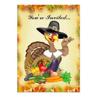 Thanksgiving Turkey add words Invitation