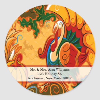 Thanksgiving Turkey Address Labels