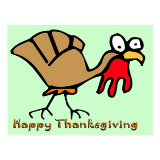 Thanksgiving Turkey Cards Post Card