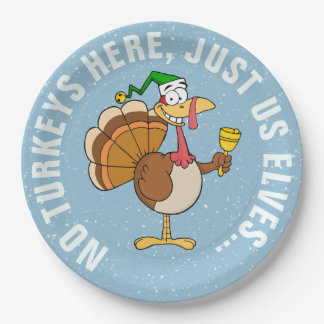 Thanksgiving Turkey Christmas Disguise Cartoon Paper Plate