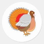 Thanksgiving Turkey Classic Round Sticker