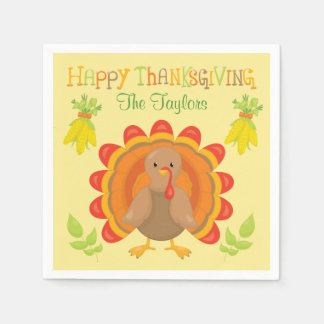 Thanksgiving Turkey Dinner Disposable Napkin