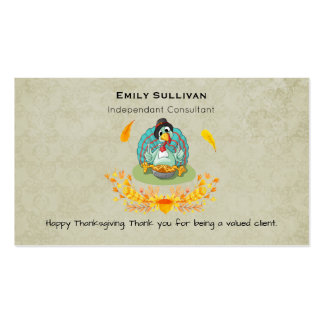 Thanksgiving Turkey Eating Pumpkin Pie Pack Of Standard Business Cards