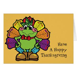 Thanksgiving Turkey Frog Card