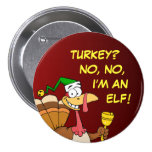 Thanksgiving Turkey Funny Disguise for Christmas Pinback Button