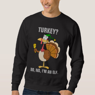 Thanksgiving Turkey Funny Disguise for Christmas Pull Over Sweatshirt