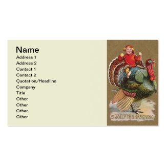 Thanksgiving Turkey Funny Vintage Greetings Pack Of Standard Business Cards