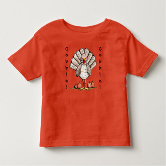 Thanksgiving Turkey Gobble Gobble Toddler T Shirt