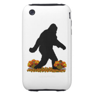 Thanksgiving Turkey Gone Squatchin iPhone 3 Tough Covers