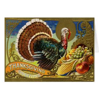 Thanksgiving Turkey Greeting Card