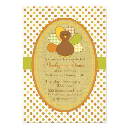 Thanksgiving Turkey Invitation-Personalize It!