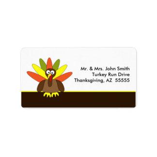Thanksgiving Turkey Label Address Label