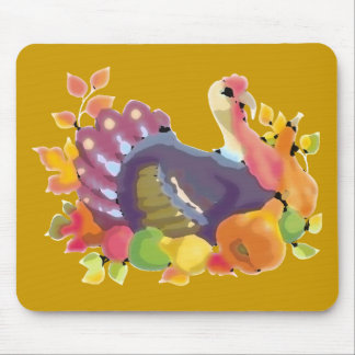 THANKSGIVING TURKEY MOUSE MAT