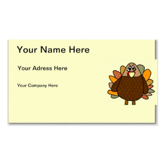 Thanksgiving Turkey Pack Of Standard Business Cards