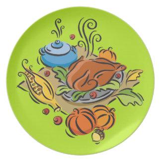 Thanksgiving Turkey Party Plates