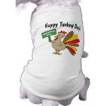 Thanksgiving Turkey Sleeveless Dog Shirt