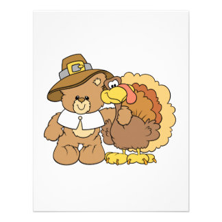 thanksgiving turkey teddy bear design personalized invitation