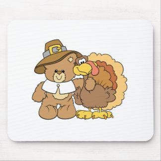 thanksgiving turkey teddy bear design mouse mat