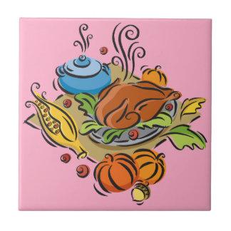 Thanksgiving Turkey Ceramic Tile