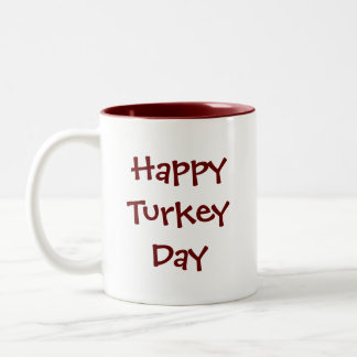 Thanksgiving Turkey Two-Tone Coffee Mug