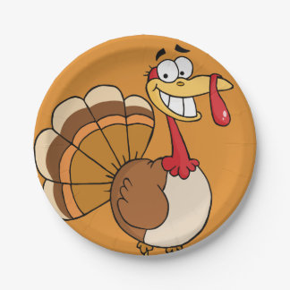 Thanksgiving Turkey's Final Wish Cartoon Paper Plate